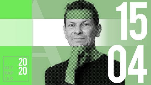 Teasergrafik Altpapier vom 15. April 2020: Porträt Autor Christian Bartels