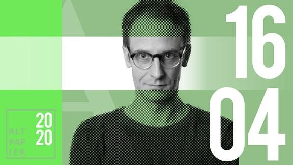 Teasergrafik Altpapier vom 16. April 2020: Porträt Autor Klaus Raab