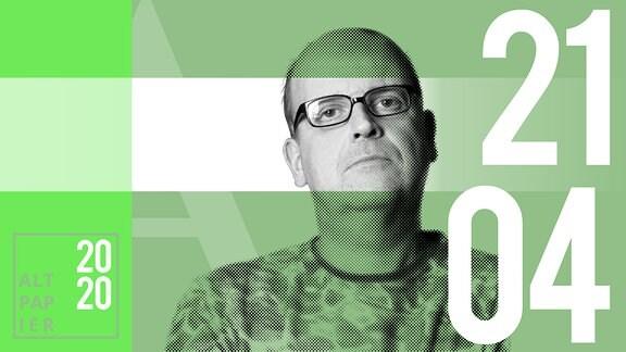 Teasergrafik Altpapier vom 21. April 2020: Porträt Autor René Martens