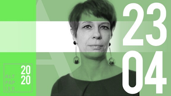 Teasergrafik Altpapier vom 23. April 2020: Porträt Autorin Jenni Zylka