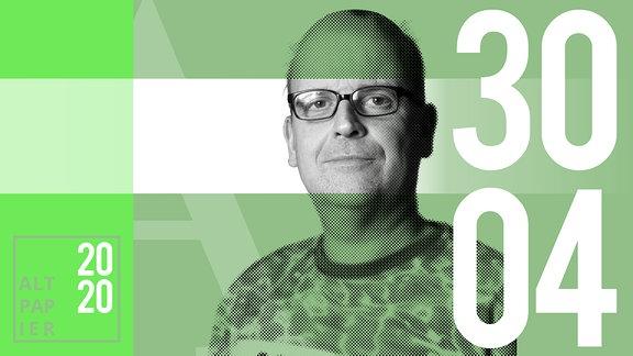 Teasergrafik Altpapier vom 30. April 2020: Porträt Autor René Martens