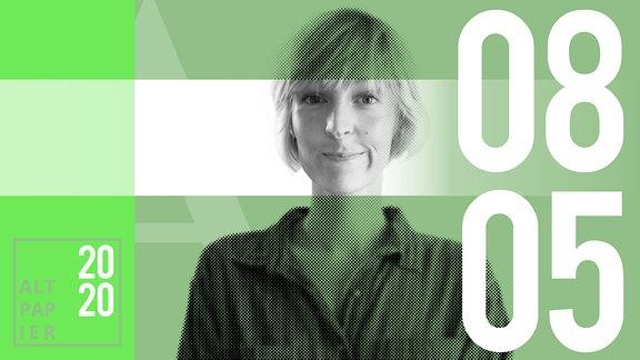 Teasergrafik Altpapier vom 08. Mai 2020: Porträt Autorin Nora Frerichmann