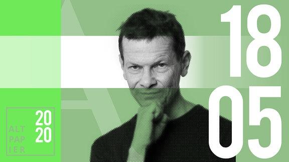 Teasergrafik Altpapier vom 18. Mai 2020: Porträt Autor Christian Bartels