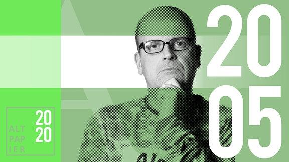 Teasergrafik Altpapier vom 20. Mai 2020: Porträt Autor René Martens