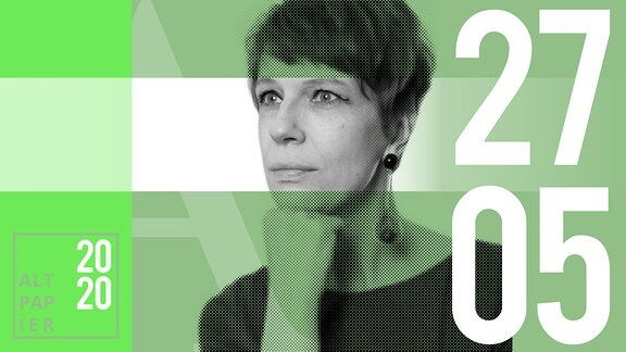 Teasergrafik Altpapier vom 27. Mai 2020: Porträt Autorin Jenni Zylka