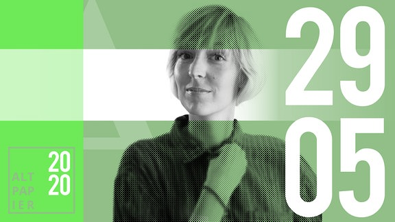 Teasergrafik Altpapier vom 29. Mai 2020: Porträt Autorin Nora Frerichmann