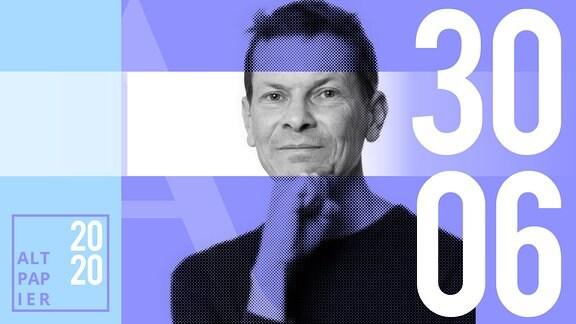 Teasergrafik Altpapier vom 30. Juni 2020: Porträt Autor Christian Bartels