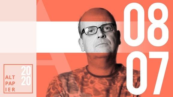 Teasergrafik Altpapier vom 08. Juli 2020: Porträt Autor René Martens