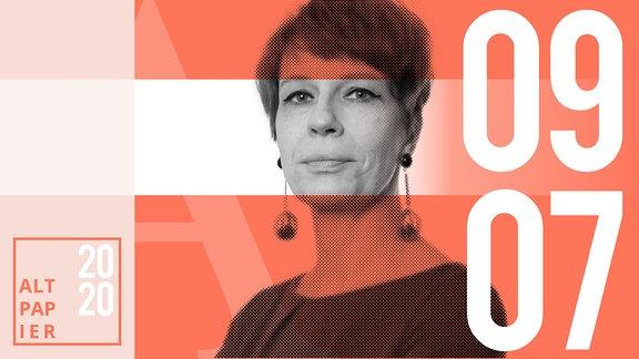 Teasergrafik Altpapier vom 09. Juli 2020: Porträt Autorin Jenni Zylka
