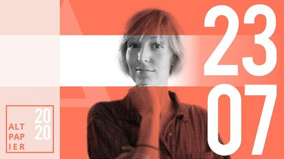 Teasergrafik Altpapier vom 23. Juli 2020: Porträt Autorin Nora Frerichmann