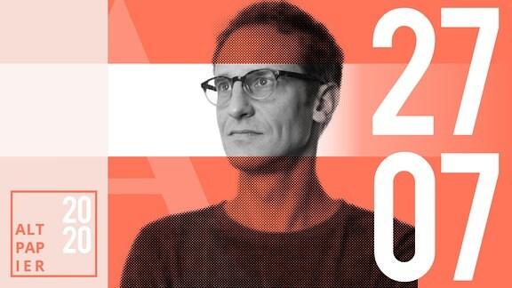 Teasergrafik Altpapier vom 27. Juli 2020: Porträt Autor Klaus Raab