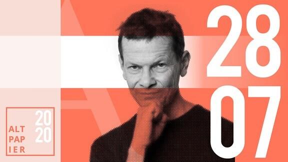 Teasergrafik Altpapier vom 28. Juli 2020: Porträt Autor Christian Bartels