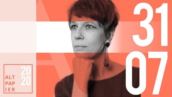 Teasergrafik Altpapier vom 31. Juli 2020: Porträt Autorin Jenni Zylka