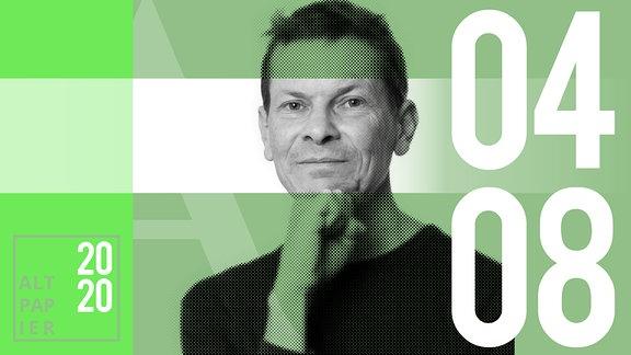 Teasergrafik Altpapier vom 4. August 2020: Porträt Autor Christian Bartels
