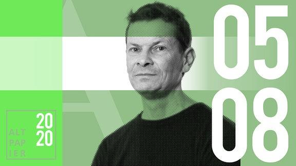 Teasergrafik Altpapier vom 5. August 2020: Porträt Autor Christian Bartels