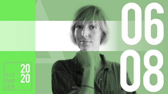 Teasergrafik Altpapier vom 6. August 2020: Porträt Autorin Nora Frerichmann