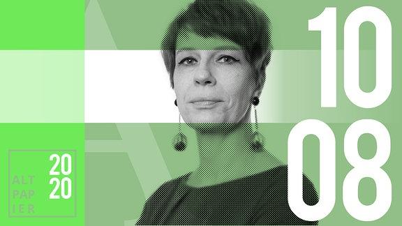 Teasergrafik Altpapier vom 10. August 2020: Porträt Autorin Jenni Zylka