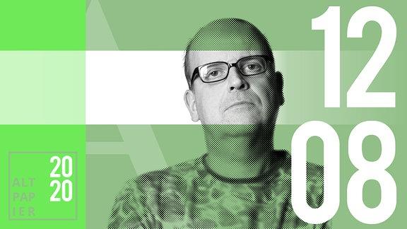 Teasergrafik Altpapier vom 12. August 2020: Porträt Autor René Martens