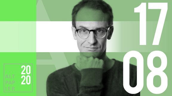 Teasergrafik Altpapier vom 17. August Juli 2020: Porträt Autor Klaus Raab