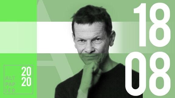 Teasergrafik Altpapier vom 18. August 2020: Porträt Autor Christian Bartels