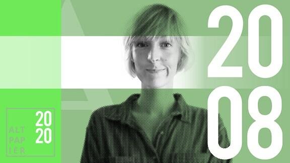 Teasergrafik Altpapier vom 20. August 2020: Porträt Autorin Nora Frerichmann