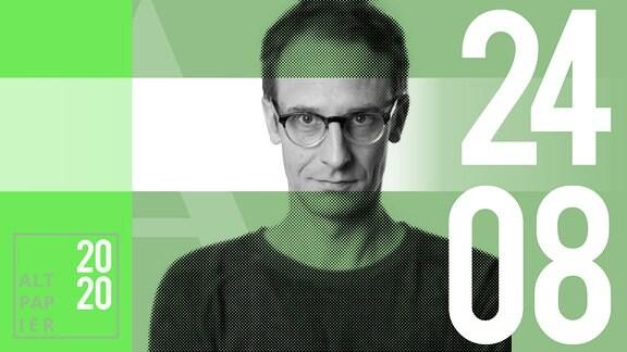 Teasergrafik Altpapier vom 24. August Juli 2020: Porträt Autor Klaus Raab