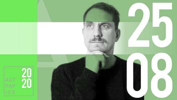 Teasergrafik Altpapier vom 25. August 2020: Porträt Autor Ralf Heimann