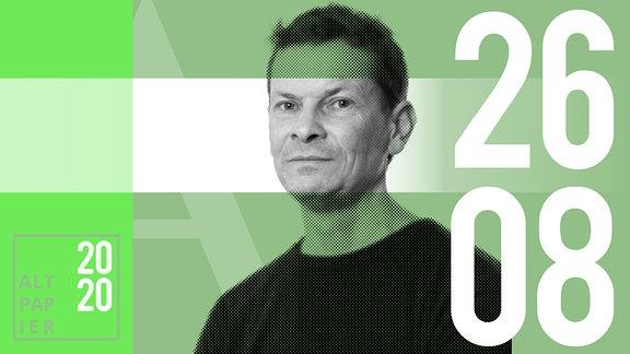 Teasergrafik Altpapier vom 26. August 2020: Porträt Autor Christian Bartels