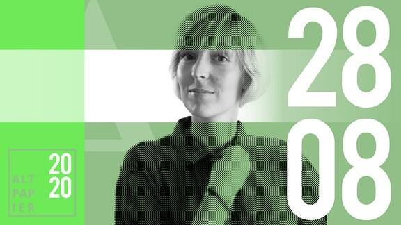 Teasergrafik Altpapier vom 28. August 2020: Porträt Autorin Nora Frerichmann