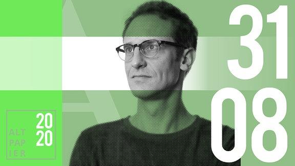 Teasergrafik Altpapier vom 31. August 2020: Porträt Autor Klaus Raab