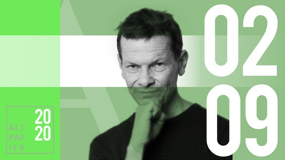 Teasergrafik Altpapier vom 2. September 2020: Porträt Autor Christian Bartels
