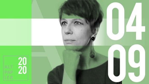 Teasergrafik Altpapier vom 4. September 2020: Porträt Autorin Jenni Zylka