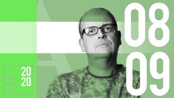 Teasergrafik Altpapier vom 08. September 2020: Porträt Autor René Martens