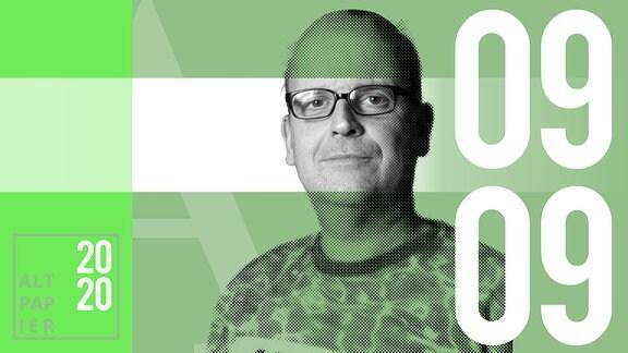 Teasergrafik Altpapier vom 9. September 2020: Porträt Autor René Martens