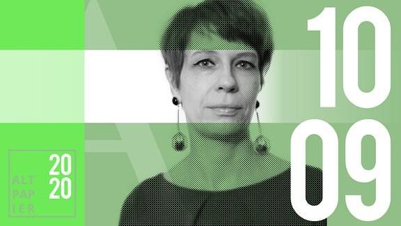Teasergrafik Altpapier vom 10. September 2020: Porträt Autorin Jenni Zylka