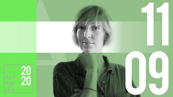 Teasergrafik Altpapier vom 11. September 2020: Porträt Autorin Nora Frerichmann
