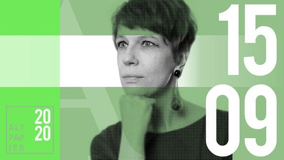 Teasergrafik Altpapier vom 15. September 2020: Porträt Autorin Jenni Zylka