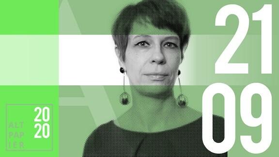 Teasergrafik Altpapier vom 21. September 2020: Porträt Autorin Jenni Zylka