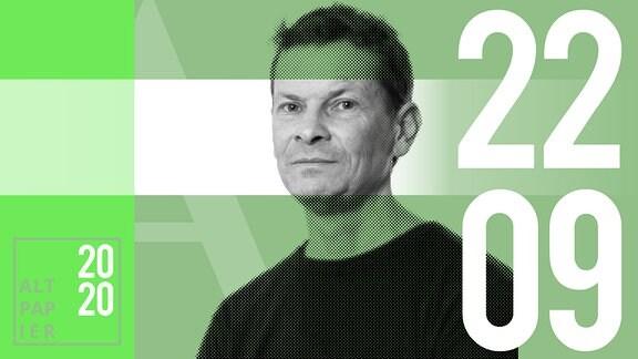 Teasergrafik Altpapier vom 22. September 2020: Porträt Autor Christian Bartels