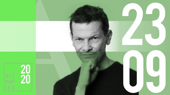 Teasergrafik Altpapier vom 23. September 2020: Porträt Autor Christian Bartels