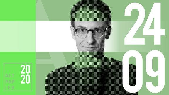 Teasergrafik Altpapier vom 24. September 2020: Porträt Autor Klaus Raab