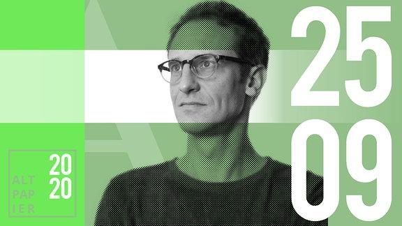 Teasergrafik Altpapier vom 25. September 2020: Porträt Autor Klaus Raab