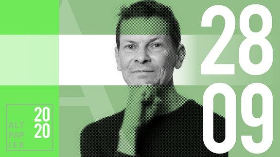 Teasergrafik Altpapier vom 28. September 2020: Porträt Autor Christian Bartels