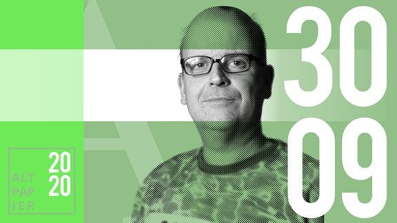 Teasergrafik Altpapier vom 30. September 2020: Porträt Autor René Martens