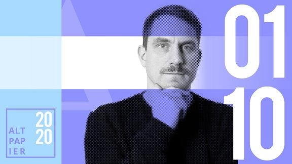 Teasergrafik Altpapier vom 01. Oktober 2020: Porträt Autor Ralf Heimann