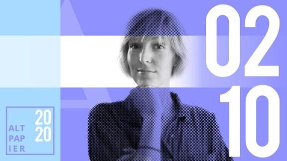 Teasergrafik Altpapier vom 2. Oktober 2020: Porträt Autorin Nora Frerichmann