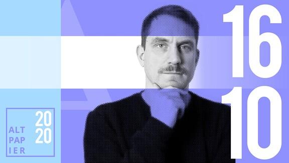 Teasergrafik Altpapier vom 16. Oktober 2020: Porträt Autor Ralf Heimann