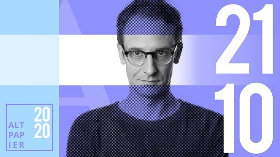 Teasergrafik Altpapier vom 21. Oktober 2020: Porträt Autor Klaus Raab