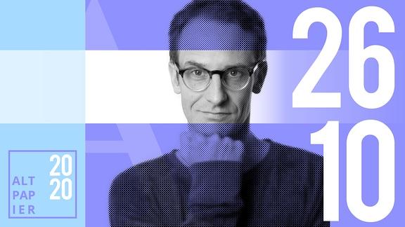 Teasergrafik Altpapier vom 26. Oktober 2020: Porträt Autor Klaus Raab