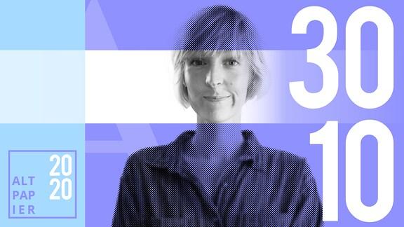 Teasergrafik Altpapier vom 30. Oktober 2020: Porträt Autorin Nora Frerichmann